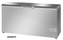 Vestfrost SZ464STS grey commercial chest freezer with stainless steel lid