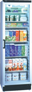 Vestfrost FKG371 Upright Glass Door Fridge (13cu.ft)